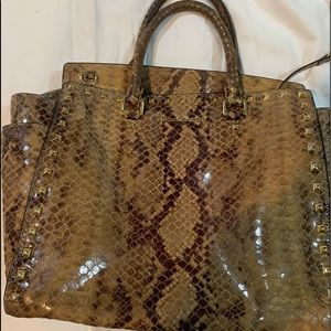 Michael Kors Python look Large Tote Handbag